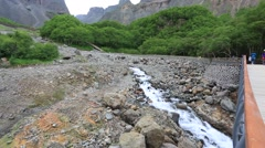 Stream in mountain area Stock Footage