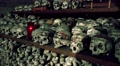 4k Memorial skulls in Charnel House at Hallstatt Austria 4k or 4k+ Resolution