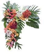 Colorful flower arrangement - stock photo