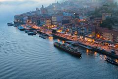 embankment in  old town of Porto, Portugal - stock photo