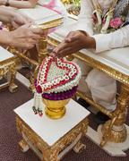 Blessed water at Thai wedding ceremony - stock photo