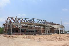 Construction work site Stock Photos