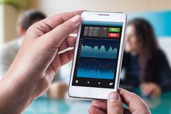 Smart forex app - stock photo
