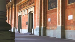 Trinkhalle (pump house) in the Kurhaus spa complex in Baden-Baden, Germany Stock Footage