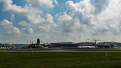 Timelapse - Zurich International Airport. Switzerland Stock Footage