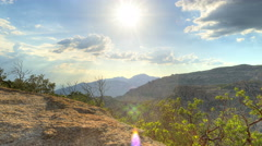 Cloudy Mountain Sunset 3 Stock Footage