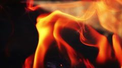 Fire flame close up Stock Footage