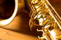 Sax golden tenor saxophone vintage retro - stock photo