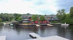 Muskoka River in Huntsville, Ontario Stock Footage