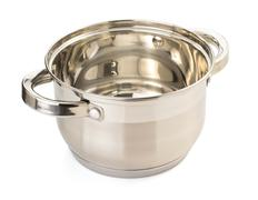 Stainless steel pan isolated on Stock Photos