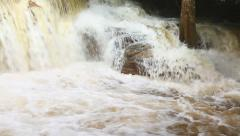 Waterfalls after heavy rain - stock footage