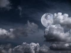 Yin Yang Moon Stock Photos