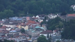 Views of Baden-Baden  and Schwarzwald from mount Merkur near town. Germany Stock Footage