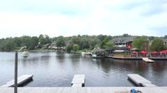 Waterfront scene in Huntsville, Ontario Stock Footage