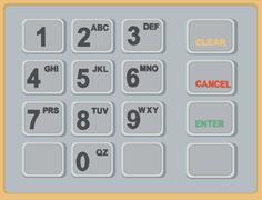 Cash Machine ATM Keypad - stock illustration