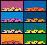 Ayers Rock Stock Illustration