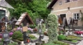 4k Beautiful cemetery graves at Hallstatt catholic church 4k or 4k+ Resolution