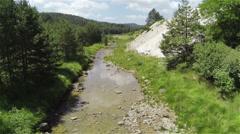 AERIAL: Beautiful river stream. Zlatibor, Serbia Stock Footage