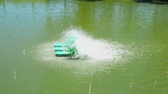 Paddlewheel Aerator Stock Footage