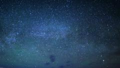 4K Lake Powell Milky Way 03 Time Lapse Stars - stock footage