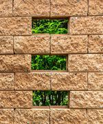 Small Window on Brown Brick Wall Stock Photos