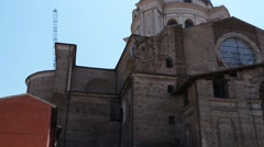 Basilica of Sant Andrea is Roman Catholic in Mantua Stock Footage