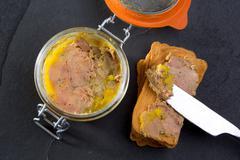 Canard Foie gras Pate made of the liver of a duck Stock Photos