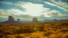 Morning Timelapse Clouds over Monument Valley Native Park, Arizona Stock Footage