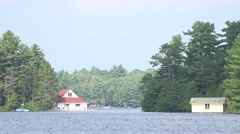 Two boathouses Stock Footage
