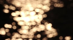 Sparkling ocean water is shining out of focus Stock Footage