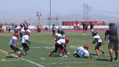 Bantam football sports young kids playing computation Stock Footage