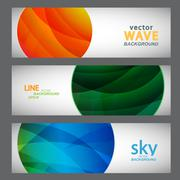 Stock Illustration of Set 3 abstract pictures of bright color