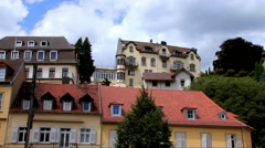 Clouds floating over Baden-Baden at summer  cloudy day - stock footage