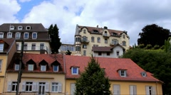 Clouds floating over Baden-Baden at summer  cloudy day. - stock footage