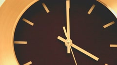 Office Wall Clock. Time lapse - stock footage
