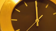 Office Wall Clock Stock Footage