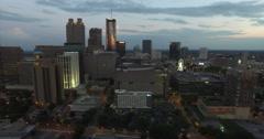 Downtown Atlanta City Tourist District Aerial 15 Arkistovideo
