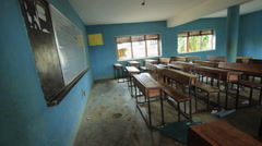 Local Classroom, A pan across a local empty classroom Stock Footage