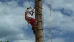 Voladores de papantla ritual indian dance. Mexico. Stock Footage