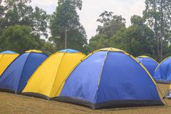 Colorful tent on the camping ground Kuvituskuvat