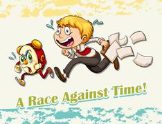 Idiom race against time Stock Illustration