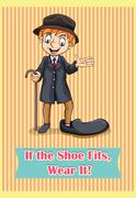 If the shoe fit, wear it - stock illustration