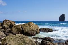coastline at Nusa Penida island - stock photo