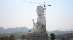 Stock Video Footage of Construction and Build Bodhisattva Goddess Statue