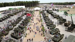 International military technical forum Army-2015 in Moscow, Russia Stock Footage