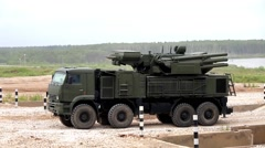 International military technical forum Army Russian military machinery - stock footage
