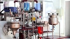 The IKA magic PLANT is a laboratory scale process plant Stock Footage