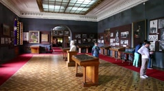 Interior of Stalin museum in Gori, Georgia Stock Footage