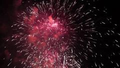 Stock Video Footage of View of pyrotechnic firework show