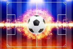 Abstract soccer background Stock Illustration